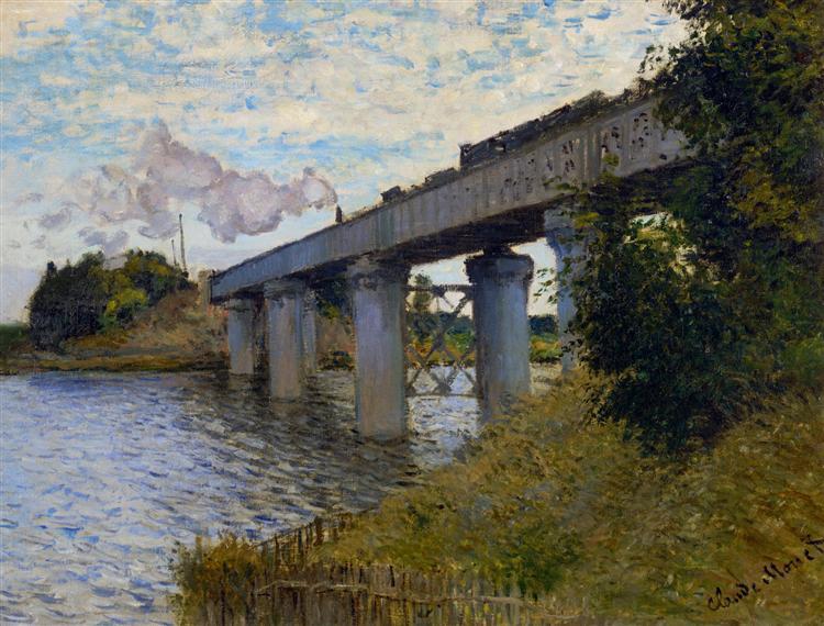 The Railway Bridge at Argenteuil, 1873 - Claude Monet