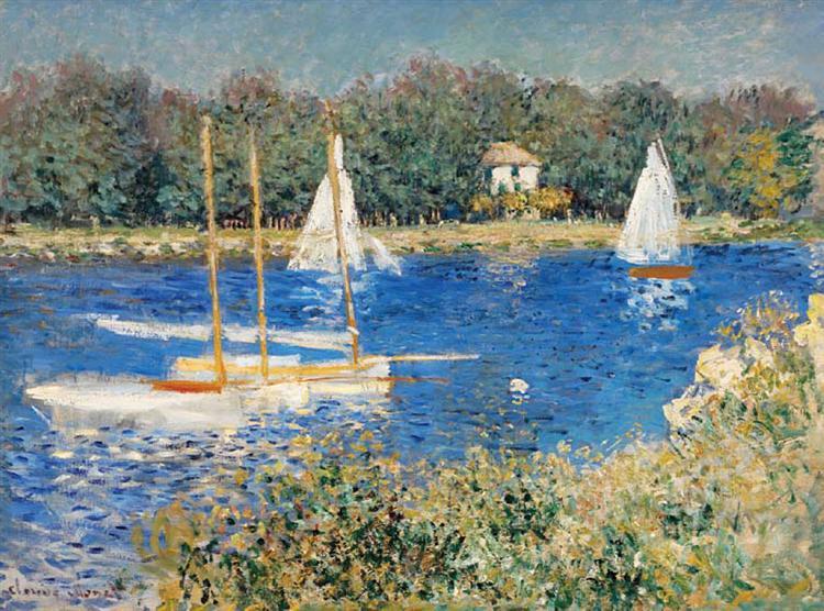 The Seine at Argenteuil, 1874 - Claude Monet