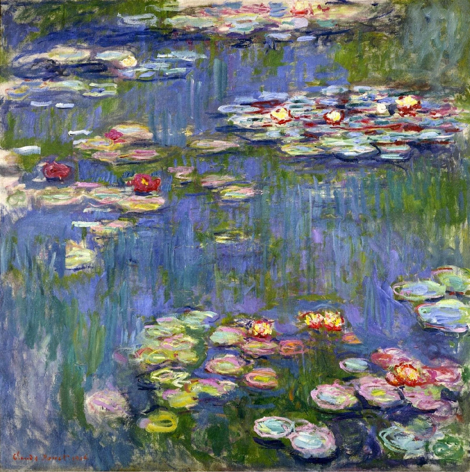 Water Lilies, 1916 - Claude Monet - WikiArt.org