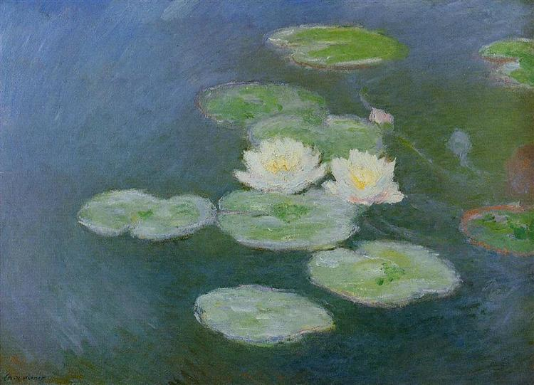Water Lilies, Evening Effect, 1897 - 1899 - Claude Monet