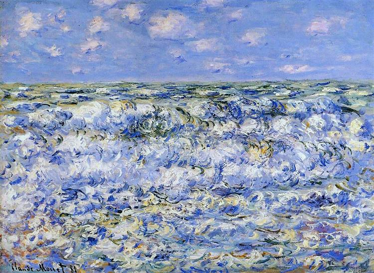 Waves Breaking, 1881 - Claude Monet