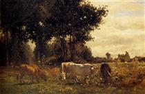 Cows Grazing - Констан Труайон