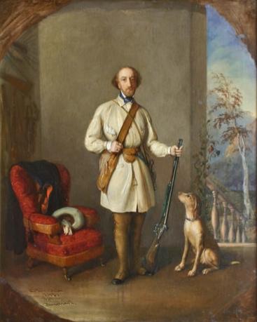 Portrait of Nicolae Golescu - Constantin Daniel Rosenthal