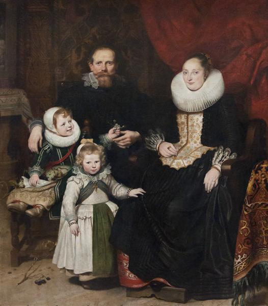 Portrait of the Artist with his Family, 1621 - Cornelis de Vos
