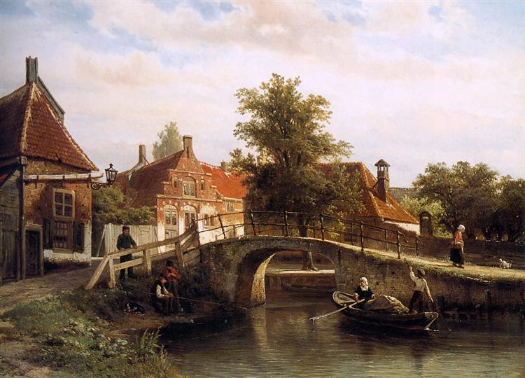 View on Enkhuizen - Cornelis Springer