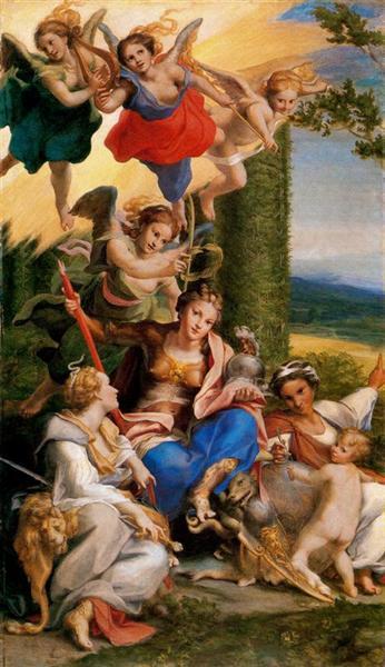 Allegory of the Virtues, c.1529 - c.1530 - Correggio