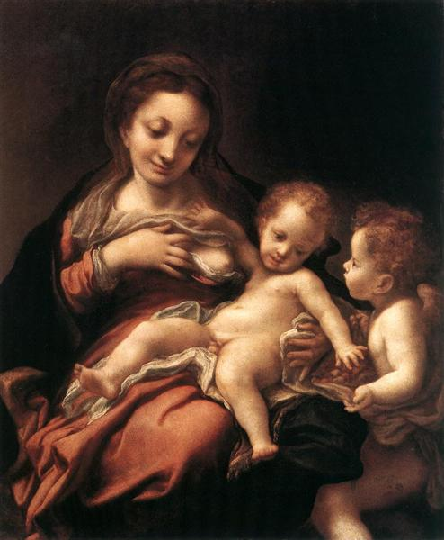 Virgin and Child with an Angel, 1520 - 1524 - Correggio