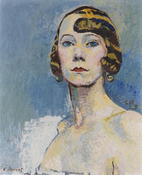 Brustbild einer Dame, 1925 - Cuno Amiet
