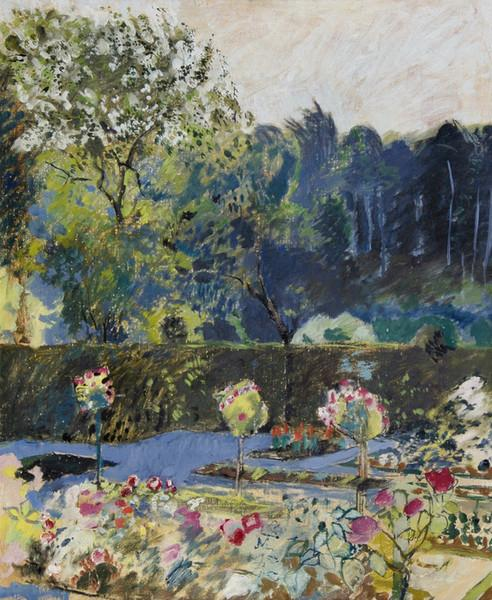 Garden with woodland - Amiet Cuno