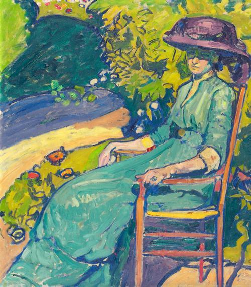 Junge Frau Im Garten (Amy Moser), 1910