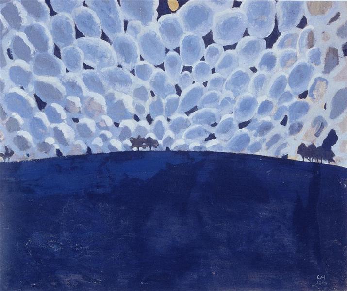 Moonlit Landscape, 1904 - Cuno Amiet