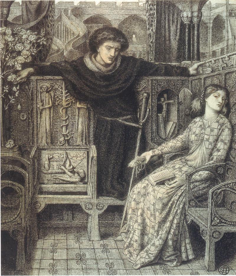 Hamlet and Ophelia, 1858