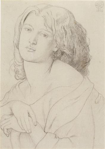 Portrait of Fanny Cornforth - Dante Gabriel Rossetti