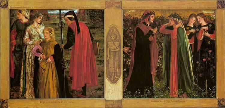 The Salutation of Beatrice - Dante Gabriel Rossetti