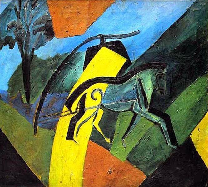 Лошадь-молния, 1907 - Давид Бурлюк