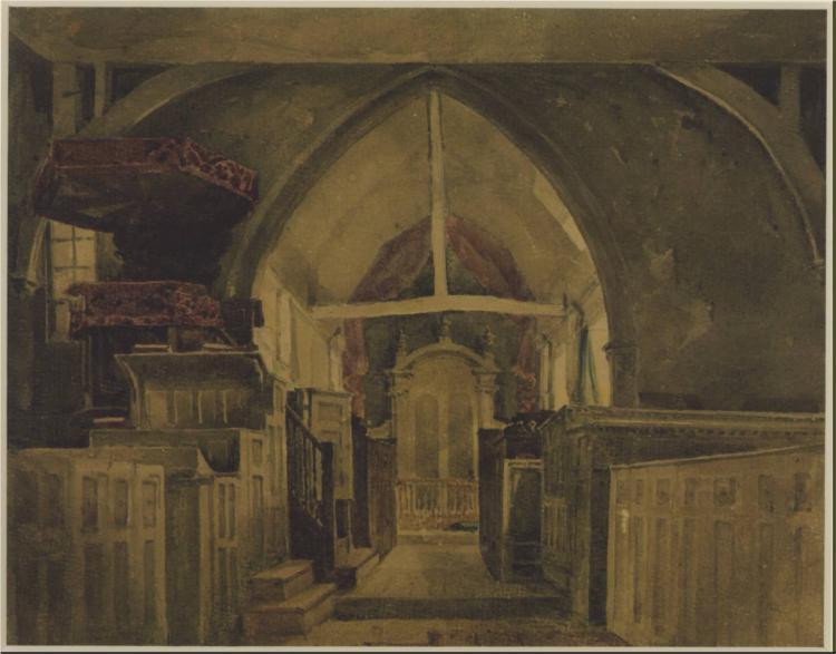 Beckenham Church, Kent, 1842 - David Cox
