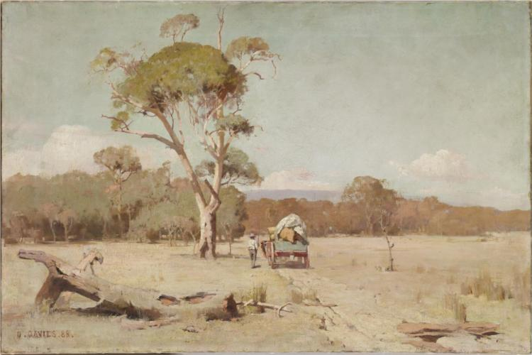 A hot day, 1888 - David Davies
