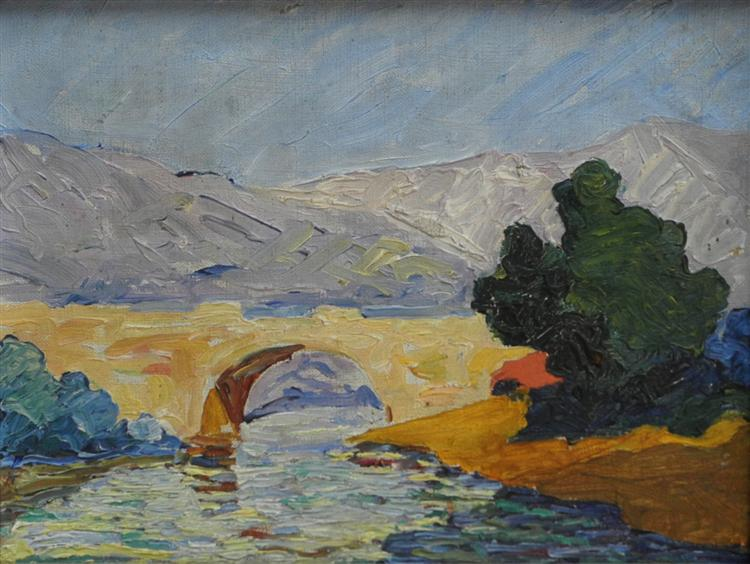 bridge, 1915 - David Kakabadze