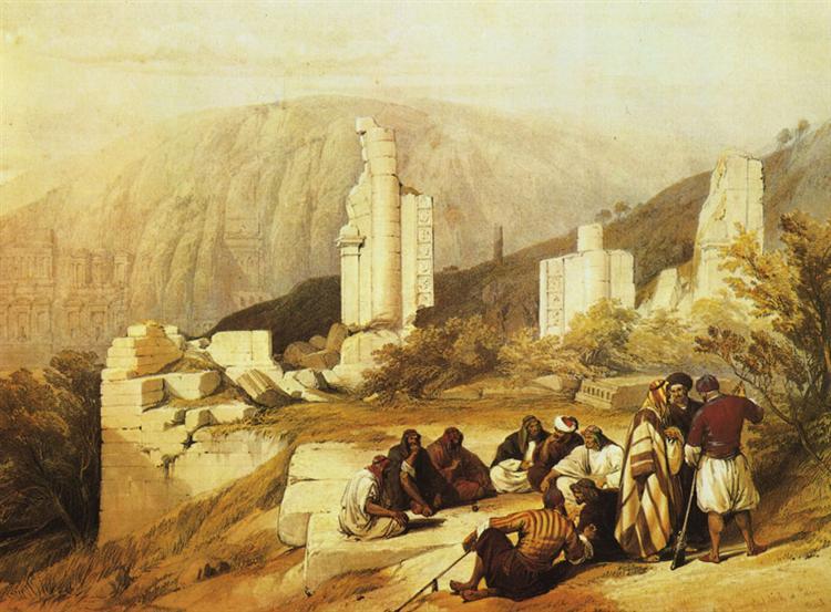 Petra. Ruins of a Triumphal Arch - David Roberts