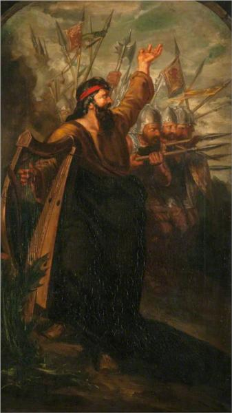 Scottish War. The Spear (triptych,  left panel) - David Scott