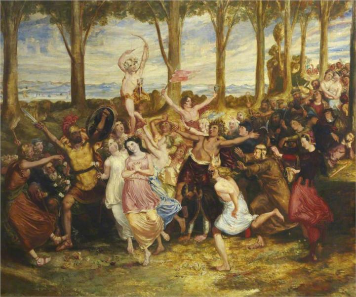 The Triumph of Love, 1846 - David Scott