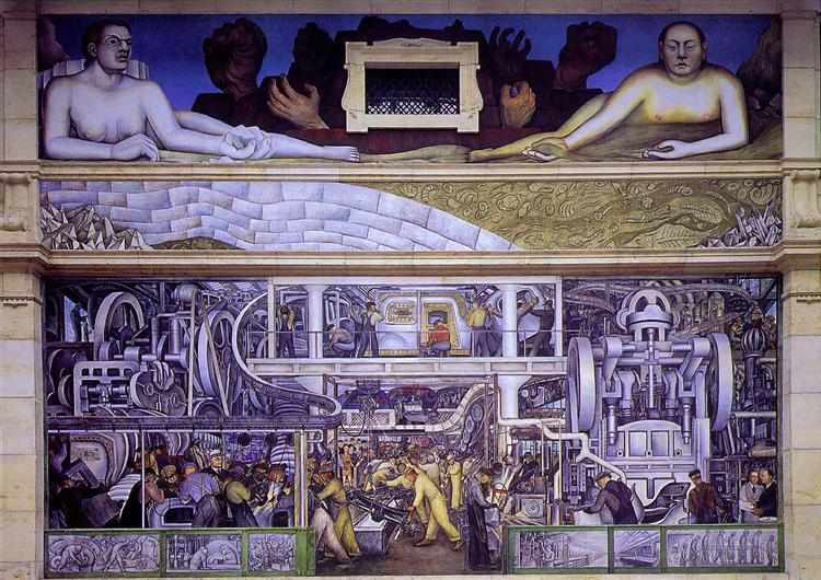 Detroit Industry, South Wall, 1932 - 1933 - Diego Rivera