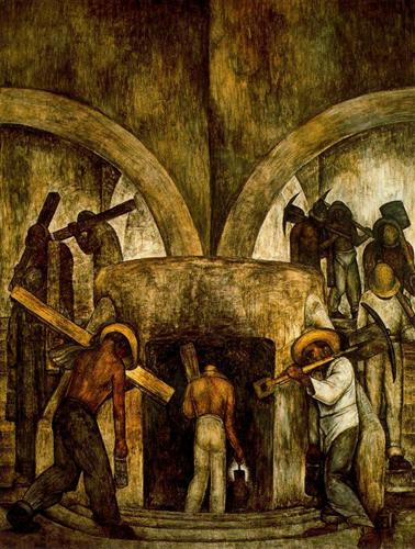Entry into the Mine - Diego Rivera