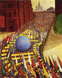 May Day Procession in Moscow - Diego Rivera