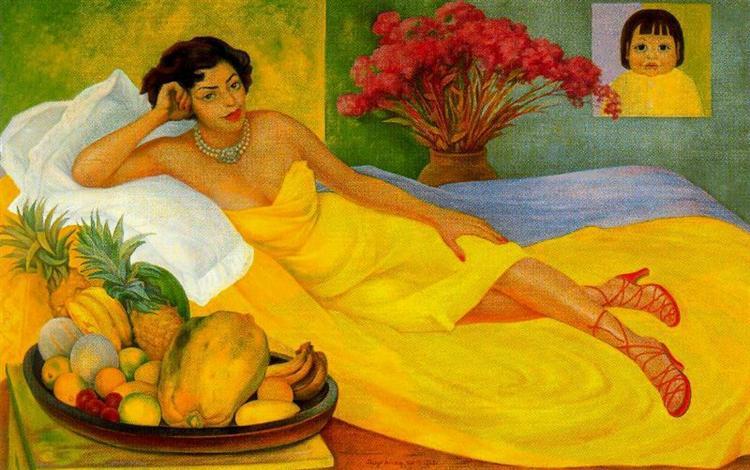 Portrait of Sra. Dona Elena Flores de Carrillo, 1953 - Diego Rivera