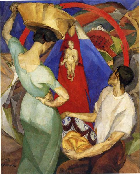 The Adoration of the Virgin - Diego Rivera