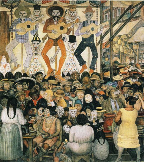The day of the dead 1924 diego rivera for Dia mural artist