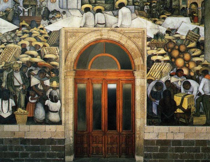 The Market, 1923 - 1924 - Diego Rivera