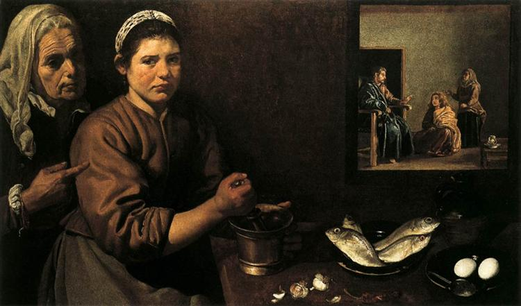 Christ in the House of Mary and Martha - Diego Velazquez
