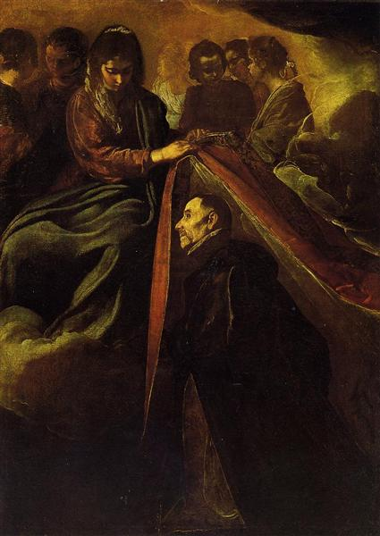 The Virgin appearing to St Ildephonsus and giving him a robe - Diego Velazquez