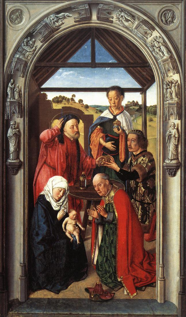 The middle panel of The Pearl of Brabant: Adoration of the Magi, 1445