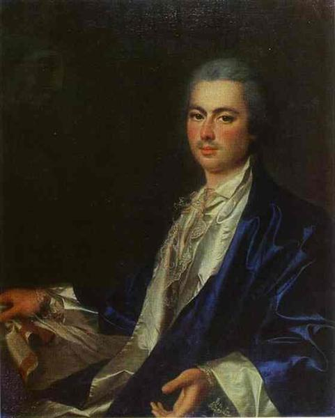 Portrait of an Unknown Man from Saltykov Family, c.1785 - Dmitry Levitzky