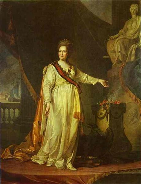 Portrait of Catherine II as Legislator in the Temple of the Goddess of Justice, 1783 - Dmitry Levitzky