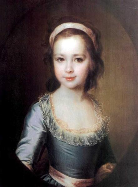 Portrait of Countess Anna Vorontsova as a Child, c.1790 - Dmitry Levitzky