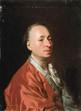 Portrait of Denis Diderot, 1773 - Dmitry Levitzky