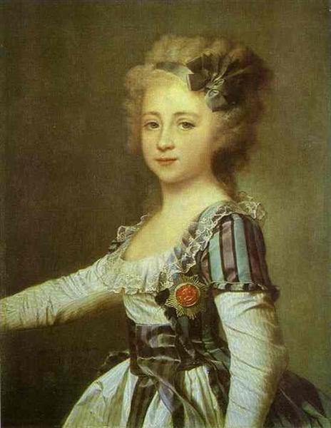 Portrait of Grand Duchess Elena Pavlovna as a Child, 1791 - Dmitry Levitzky
