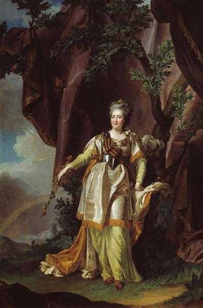 Portrait of Greate russian empress Catherine II - Dmitry Levitzky