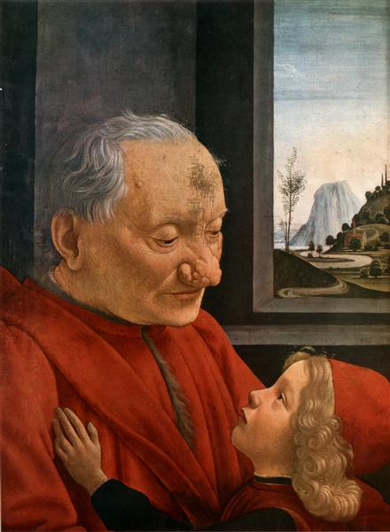 Old Man with a Young Boy, c.1490 - Domenico Ghirlandaio