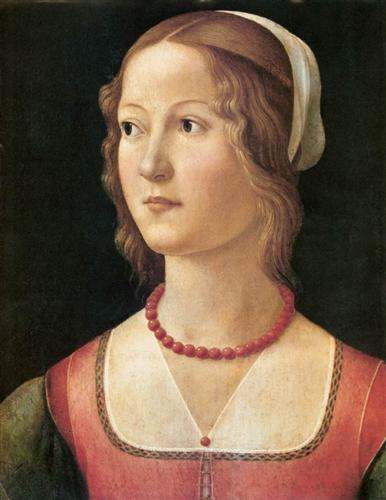 Portrait of a Young Woman - Domenico Ghirlandaio