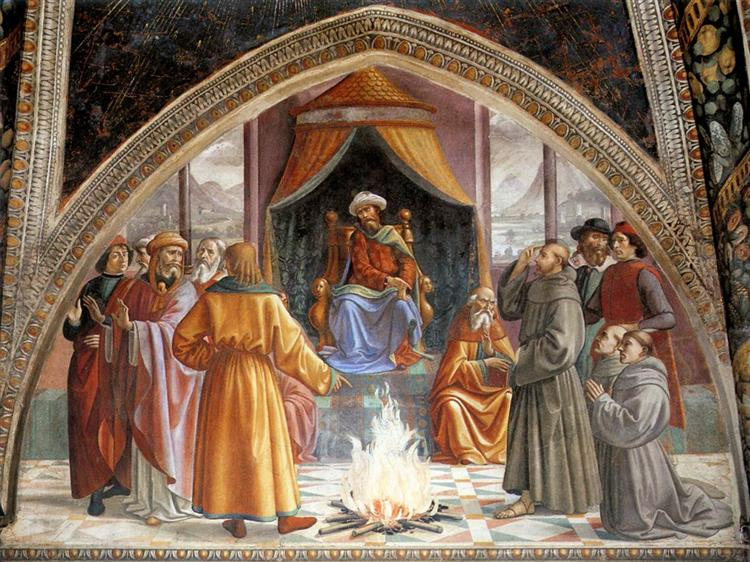 The Trial by Fire, St. Francis before the Sultan of Egypt, 1482 - 1485 - Domenico Ghirlandaio