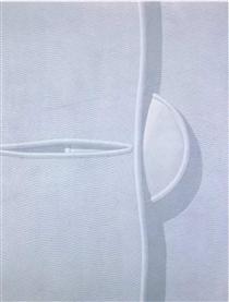 Unbottoned button - Domenico Gnoli