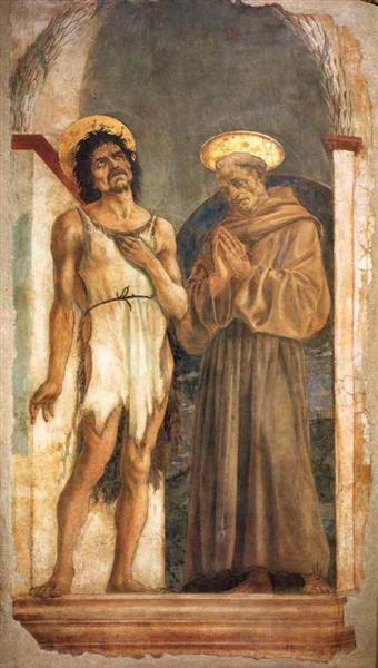 St. John the Baptist and St. Francis of Assisi, 1454 - Domenico Veneziano