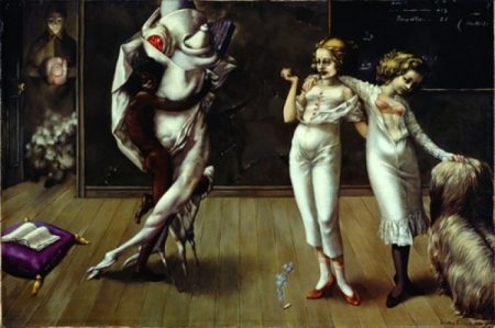 Interior with Sudden Joy, 1951 - Dorothea Tanning - WikiArt.org