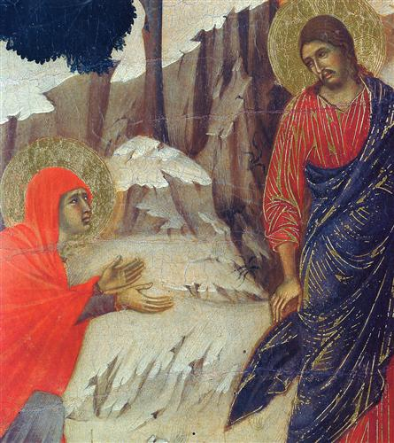 Christ Appearing to Mary Magdalene (Fragment)  - Duccio