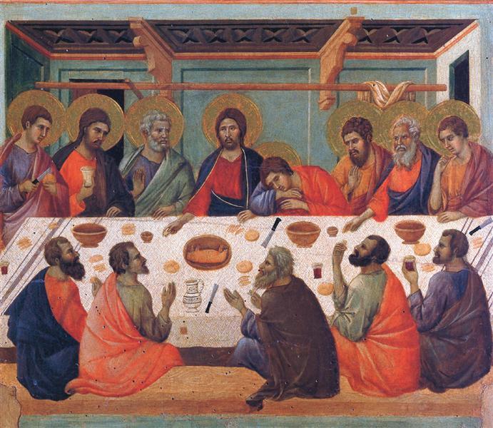 The Last Supper, 1308 - 1311 - Duccio