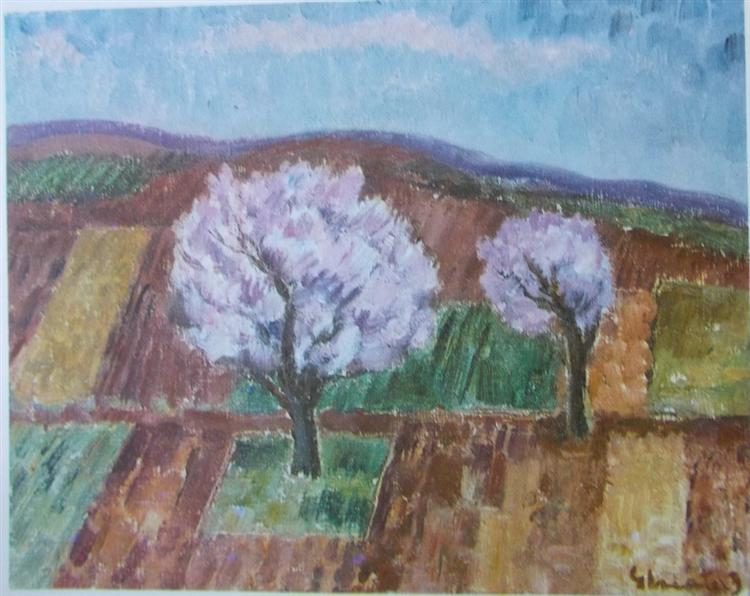Cherry Trees in Blossom - Dumitru Ghiatza